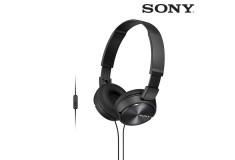 Audífonos SONY de diadema MDR-ZX310 negros con manos libres y almohadillas
