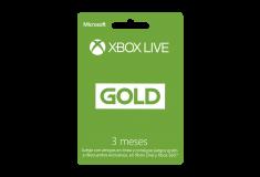 Pin Virtual XBOX LIVE GOLD 3 Meses