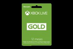 Pin Virtual XBOX LIVE GOLD 12 Meses