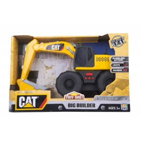 Retro-excavadora Big Builder CATERPILLAR -  TOY STATE Luces& Sonido Amarilla