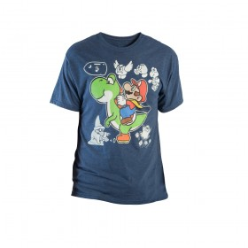 Camiseta NINTENDO Yoshi y Mario Talla S