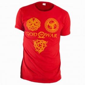 Camiseta GOD OF WAR Rojo Talla L