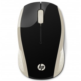 Mouse HP Inalambrico Optico 200 Negro / Dorado