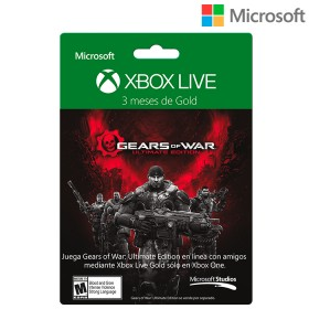Tarjeta XBOX LIVE 3 meses Brandeada Gears of War Utimate Edition