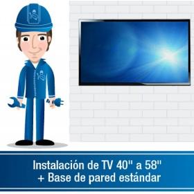 """Instalación de TV 40"""" a 58"""" incluye base fija"""