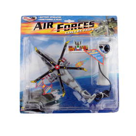 GOLDLOK Air Forces Collection: Helicóptero Control Remoto