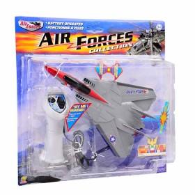 GOLDLOK Air Forces Collection: Avión a control remoto plateado