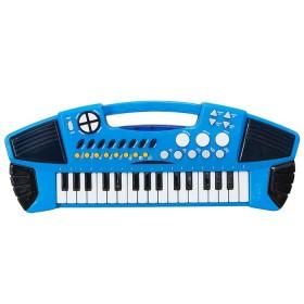 POKAR Piano Creativo Electrónico de 32 Teclas Azul