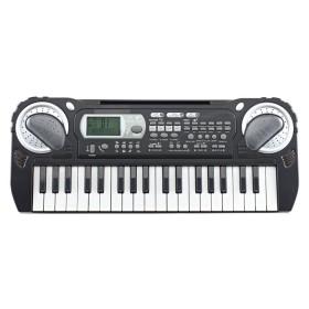 L & P piano electrónico negro