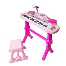 Set de teclado Rockstar Winfun micrófono rosado