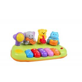 Piano de jungla bebé con luz y sonido reales Winfun colores