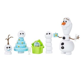 DISNEY FROZEN Set de figuras de Olaf y 3 Miniolafs