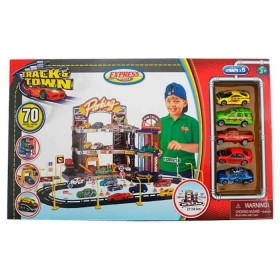EXPRESS WHEELS Playset Track N' Town con 5 vehículos
