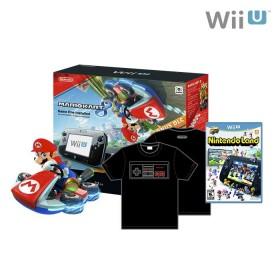 Consola WiiU MK8 + DLC + videojuego Nintendo Land + Camiseta