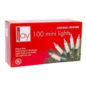 NAVIDAD Set x 100 Luces de Navidad Blancas de 7 metros
