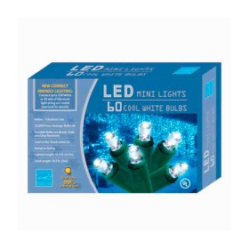 NAVIDAD Set x 60 Luces de Navidad Led Blancas