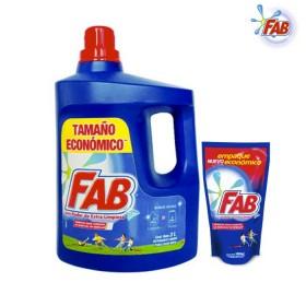 Detergente Líquido Fab Floral 3L+1.8L
