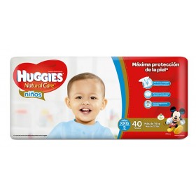 Pañal HUGGIES Natural Care Niño XXG x 40 Und.