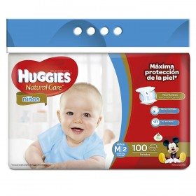 Pañales HUGGIES Natural Care Niño M x 100 Und.