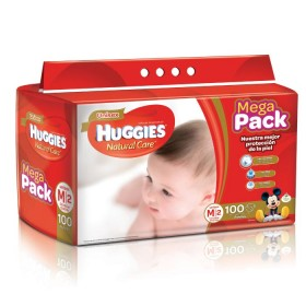 Pañal HUGGIES Natural Care M x100 unidades