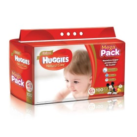 Pañal HUGGIES Natural Care G X100 unidades