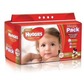 Pañal HUGGIES Natural Care XG x100 unidades