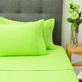 Semijuego de cama K-LINE Doble Ajustable Verde 144 hilos