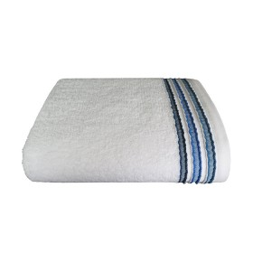 Toalla de baño CANNON Toss 70x130 Blanco/Azul Navy
