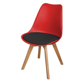 Silla de Diseño TUKASA Rojo/Negro 80033