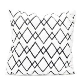 Cojín K-LINE Metalizado Geométrico Blanco/Negro 45 x 45