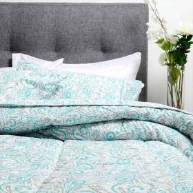 Comforter Estampado K-LINE King Turquesa
