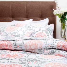Comforter Estampado K-LINE Extradoble Coral