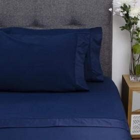 Juego de cama K-LINE Sencillo FE Azul Profundo 100% Microfibra