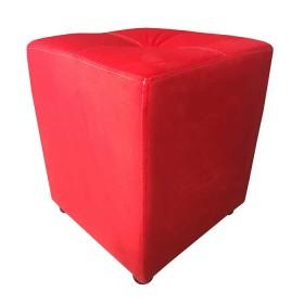 Puff TUKASA Pekín Microfibra Rojo