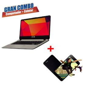 Combo ASUS Portátil X407MA Intel Pentium Disco Duro 500Gb Gris + Zenfone 4 Max 5.2_1