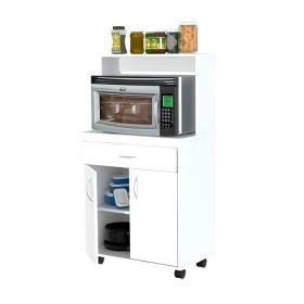 Gabinete Multiusos de Cocina INVAL con ruedas Blanco