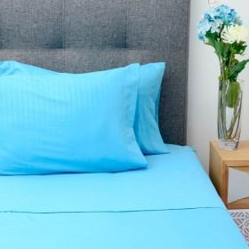 Juego de cama K-LINE Extradoble Azul Microfibra 100% 85 gr