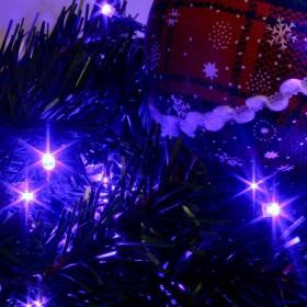 Luz Navideña En Bolsa X 92 Led. Azul Cable Verde