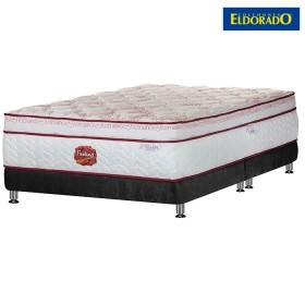 KOMBO ELDORADO: Colchón Feeling Romance Doble + Base cama Negra
