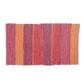 Alfombra FREEHOME Rayas Rojas/Naranjas 90 x 150 cm