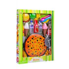Set de pizza y hamburguesa Ka Shun Plastic