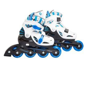 L.A. SPORTS Kit de patinaje en línea 31 a 35 Azul y Blanco