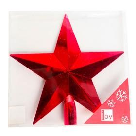 NAVIDAD Estrella para Tope de Arbol de 20 cm Roja