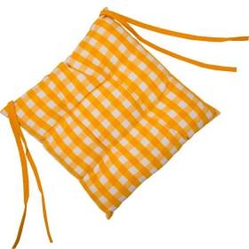 Cojín FREEHOME 40 x 40 Cuadros Amarillos