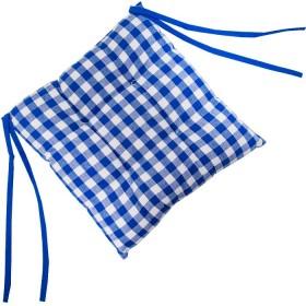 Cojín FREEHOME 40 x 40 Cuadros Azules