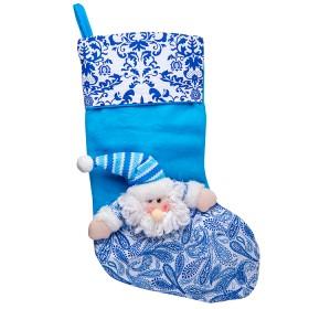NAVIDAD Bota Santa Claus de 18.5 cm Azul