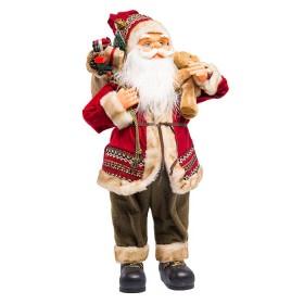 NAVIDAD Figura de Santa Con Osito de 60 cm