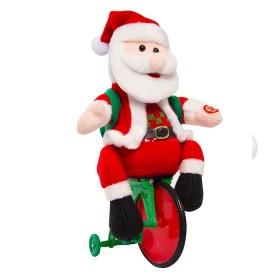 """NAVIDAD Figura de Santa En Bicicleta de 12"""""""