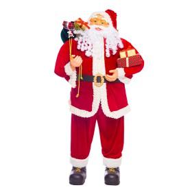 NAVIDAD Figura de Santa Claus con regalos de 120 cm