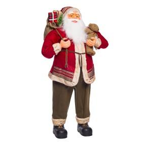 NAVIDAD Figura de Santa Claus con osito de 120 cm